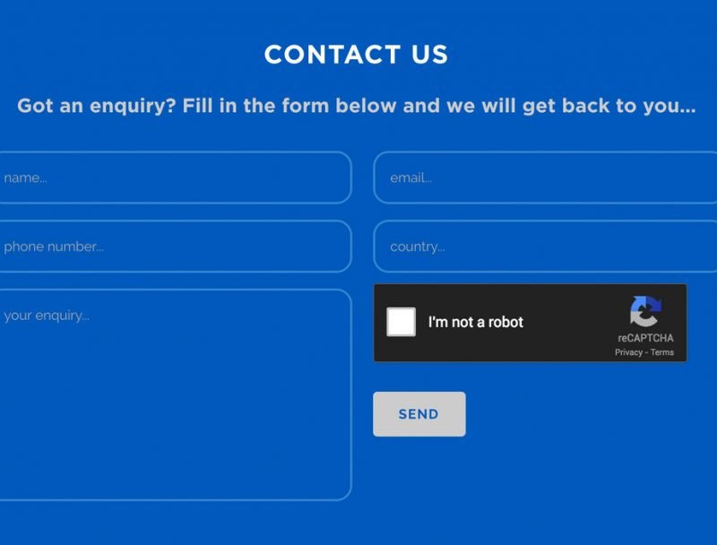 Contact Form blue