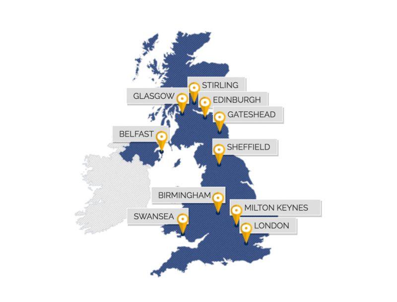 Geomatics UK Map