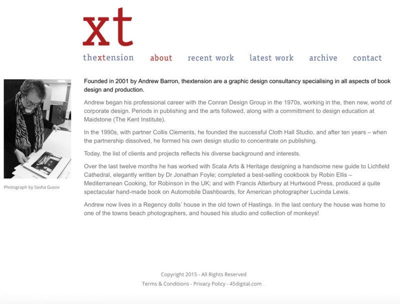 Thextension website